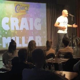 Craig Millar performing at the Comics Lounge
